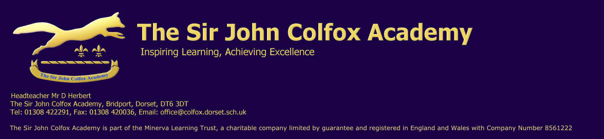 The Sir John Colfox Academy Logo